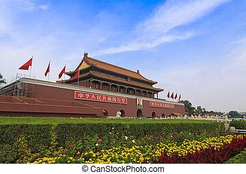 Beijing building Tiananmen landscape, beijing, china