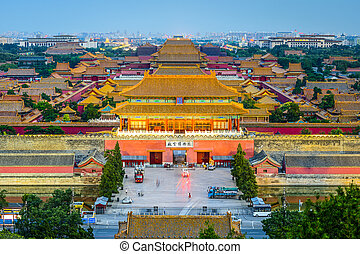 Beijing, China at the Forbidden City - Beijing, China at the...