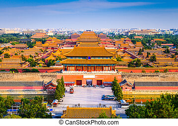 Forbidden City - Beijing, China city skyline at the ...