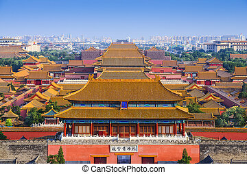 Beijing China Forbidden City - Beijing, China city skyline ...