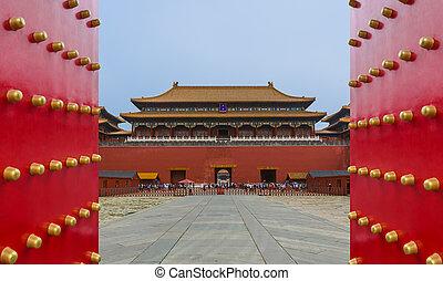 Beijing, China - May 16, 2018: Gugong Forbidden City Palace.