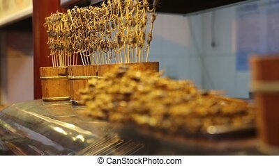 BEIJING, China- MAY. street life. market. traditional Chinese street food