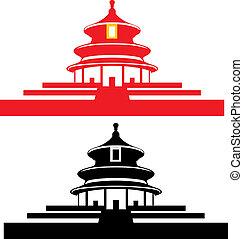beijing, ciel, temple