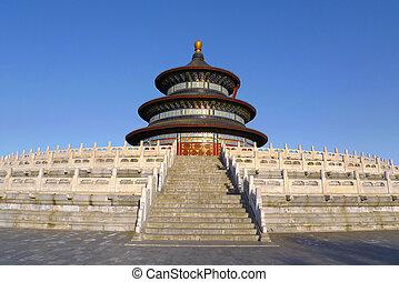 beijing, cielo, china, templo