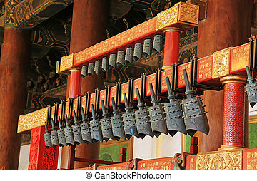 chinese chimes in the hall, in the Imperial Ancestral Temple...