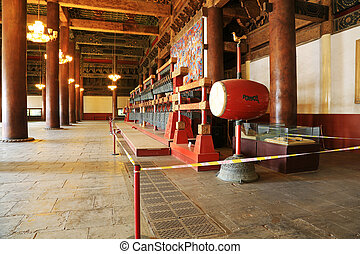 hall building structure in the Imperial Ancestral Temple, Decemb