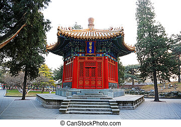 The Xili Pavilion building landscape, in the Zhongshan Park, on