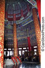 beijing, dentro, cielo, china, templo