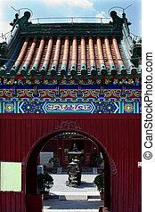 beijing, entrada, guanghua, buddha, china, templo