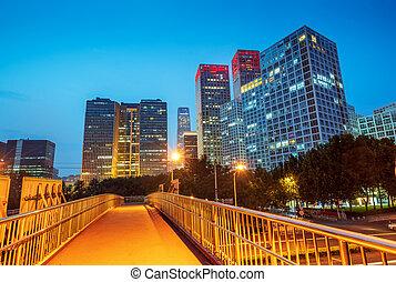 beijing, escena de la ciudad, noche