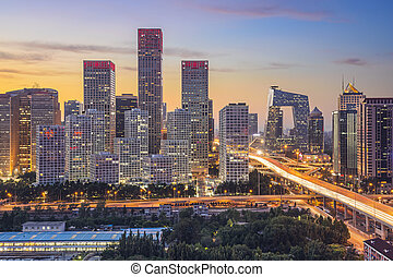 Beijing Financial District - Beijing, China skyline at the...