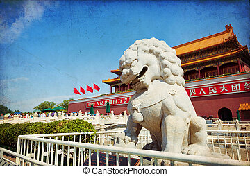 Beijing, Forbidden City - Beautiful view of the Forbidden ...