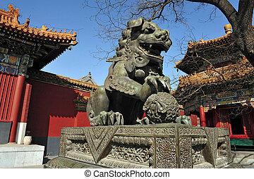 beijing, lama, porzellan, tempel