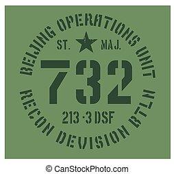 Beijing military plate design