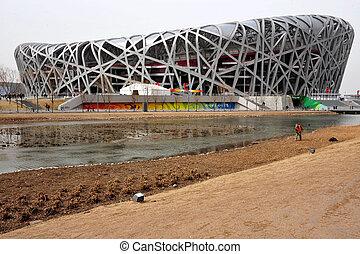 Beijing National Stadium - BEIJING - APRIL 04: The Bird's ...