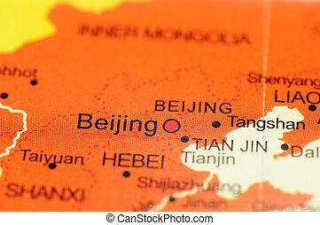 Beijing on map