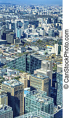 beijing, pirámide, oficina, torres, guomao, china, cityscape, chaoyang