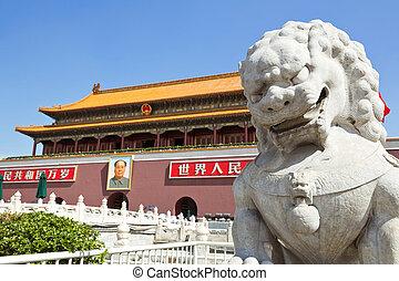 beijing, place tiananmen, ville interdite