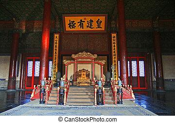 beijing, prohibido, histórico, ciudad