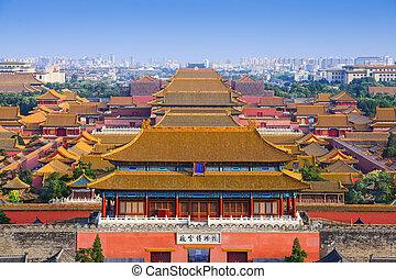 beijing, proibito, porcellana, città