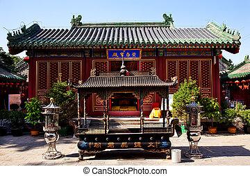 beijing, quemador, guanghua, buddha, china, templo, incence