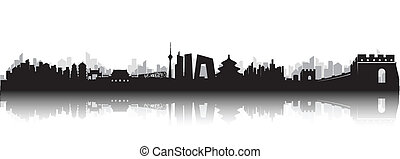 beijing, skyline, cidade