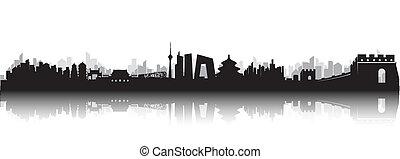 beijing, skyline, stadt