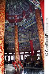 beijing, templo, china, dentro, cielo