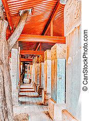 beijing-the, confucius, piedra, más grande, tableta, templo...