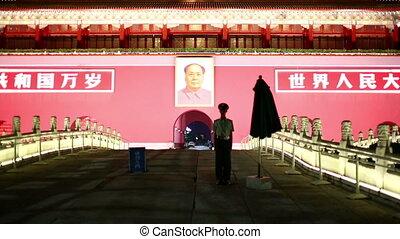 Beijing, Tiananmen Square at night