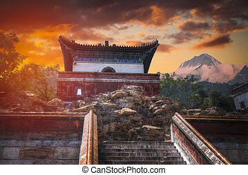 beijing, verão, outskirts, palácio, imperial