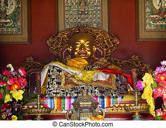 beijing, yonghe, gong, china, construido, altar, 1694,...