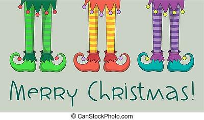 beine, weihnachtshelfer
