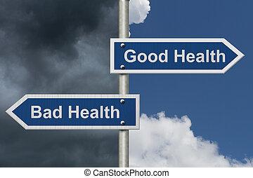Being in Good Health versus Bad Health