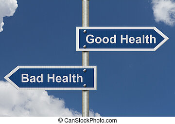 Being in Good Health versus Bad Health