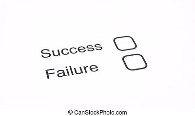 Being Successful - Marking the SUCCESS checkbox on a...