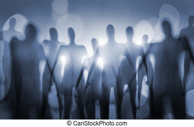 Beings - Blurry image of nightmarish alien beings.