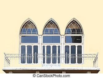 beirut, architektura, osamocený
