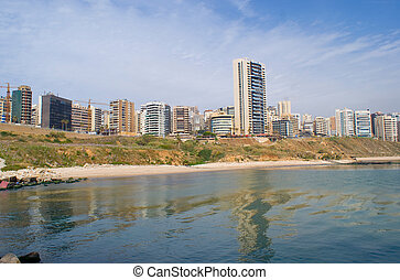 The residential sea front of beirut city