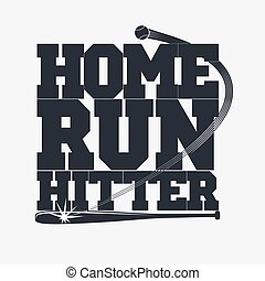 beisball, emblema, para, camiseta
