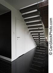 bejárat, noha, lépcsősor