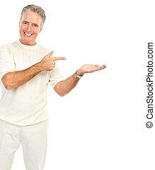 bejaarden, senoir, man