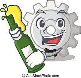 bekapcsol, sör, tervezés, karikatúra, legjobb, ikon