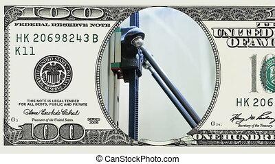 bekapcsol, számla, dollár, robot, hajtott, fogazott,...