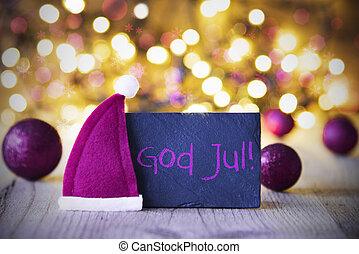 beklæde, hat santa, lys, gud, jul, betyder, glædelig jul