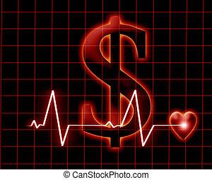 bekostningen, i, almenheden, healthcare