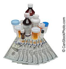 bekostningen, i, narkotiske midler