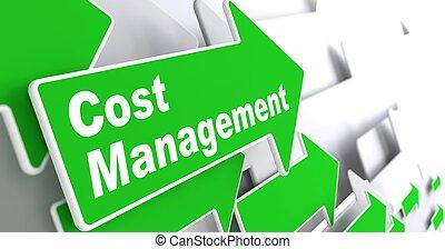 bekostningen, management., firma, concept.