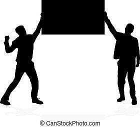bekundung, -, a, menschengruppe, protesting.