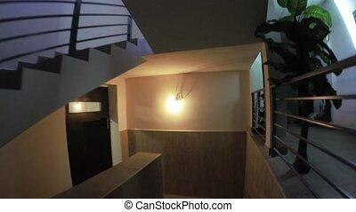 belépés, és, lépcsősor, közül, egy, épület